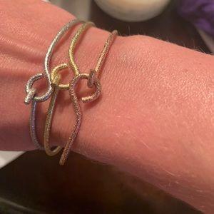 Lisa freede bangle. Gold, rose gold, silver